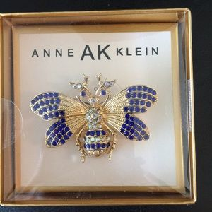 New Boxed Anne Klein Butterfly Brooche Pin